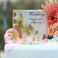 Cake Topper Personalized Classic Couple Crystal Wedding / Bridal Shower Yellow Garden Theme Gift Box