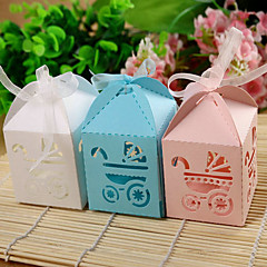 Chá de Bebê Party Favors & Gifts-12Peça/Conjunto Caixas de Ofertas Papel de Cartão Tema  Jardim Cúbico Não-PersonalizadoRosa / Azul /