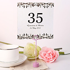 cheap Place Cards & Holders-Place Cards and Holders Personalized Square Table Number Card - Artistic Leaf (Set fo 10)