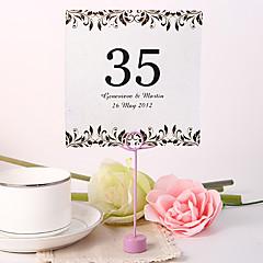hesapli Yer Kartları ve Tutacakları-Yer kartları ve tutucuları kişiselleştirilmiş kare masa numarası kartı - sanatsal yaprak (10 fo set)