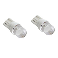 LORCOO 2Pcs T10 White Light LED Bulb for Car Dashboard