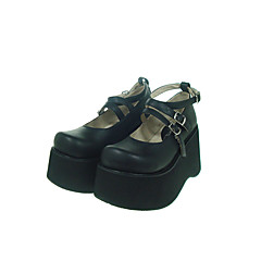 Sko Gotisk Lolita Lolita Plattform Sko Ensfarget 10 CM Til PU-lær/Polyuretan Lær Polyuretan Leather