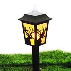 0.18W Deer Patroon Geel Oplaadbare Plastic LED Solar Garden Light