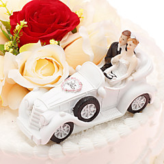 cheap Cake Toppers-Cake Topper Vehicle Classic Couple Resin Wedding Anniversary with PVC Bag