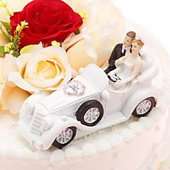 קישוטים לעוגה לא מותאם אישית זוג קלסי / רכב שרף חתונה / יום שנה תיק PVC