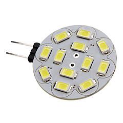 baratos Iluminação Decorativa-1.5W 150-200lm G4 Lâmpadas de Foco de LED 12 Contas LED SMD 5730 Branco Natural 12V / #