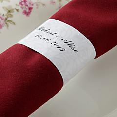 levne Svatební ubrousky-Svatební Ubrousky - 50pcs Kroužky na ubrousky Svatební Výročí Narozeniny Zásnuby Štando 15. narozeniny a sladkých 16 Květinový motiv