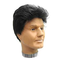 billiga Peruker och hårförlängning-Syntetiska peruker Syntetiskt hår Svart Peruk Herr / Dam Korta