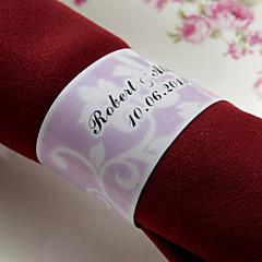 Gepersonaliseerde Papier Servet Ring - Roze Floral Design (set van 50)