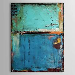 Hånd-malede Abstrakt Vertikal,Klassisk Moderne Et Panel Hang-Painted Oliemaleri For Hjem Dekoration