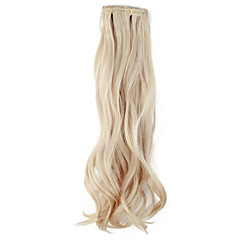 cheap Wigs & Hair Pieces-Human Hair Extensions Silky Wavy Classic Synthetic Hair 18 inch Hair Extension Daily