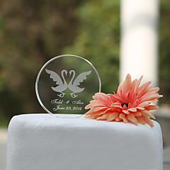Kakepynt Personalisert Klassisk Par / Hjerter Krystall Bryllup / Bridal Shower Hage Tema / Klassisk Tema Gaveeske