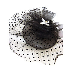 cheap Prom Hair Accessories-Crystal Rhinestone Fabric Net Tiaras Fascinators 1 Wedding Special Occasion Party / Evening Headpiece