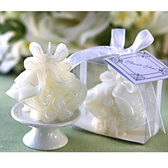 Beautiful Wedding Bells Candle in Gift Box Elegant Wedding Favors
