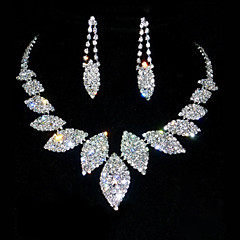 Women's Rhinestone Anniversary Birthday Rhinestone Alloy Earrings Necklaces