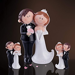 cheap Cake Toppers-Resin Home Decor Groom Groomsman Couple Parents Wedding Anniversary