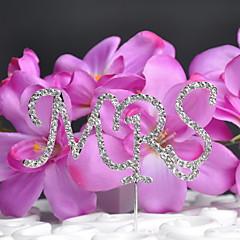 tanie Prezenty dla druhen-tort weselny monogram ślub z weselem rhinestone