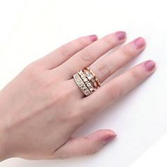 お買い得  指輪-指輪 女性用 ラインストーン 合金 合金 8 / 8½ / 9 画像参照 色とスタイルの表現は、モニターによって異なる場合があります.誤植または絵のエラーの責任を負いません.