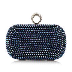 preiswerte Bags on sale-Damen Taschen Polyester Metall Abendtasche Niete Crystal / Strass für Veranstaltung / Fest Ganzjährig Gold Silber Blau