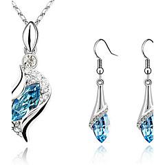 Women's Jewelry Set Drop Earrings Pendant Necklaces Earrings Crystal Rhinestones Fashion Elegant Costume Jewelry Crystal Cubic Zirconia
