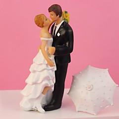 """billige Kakedekorasjoner-""""Romantic in the Rain"""" Wedding Cake Topper"""