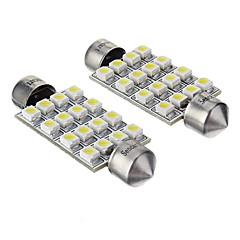 billige Interiørlamper til bil-Festong Bil Kaldt Hvit SMD 3528 6000 Instrument lys Registreringsskilt Lys blinklys Bremselys