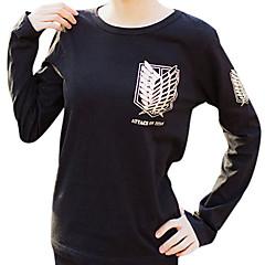 に触発さ 進撃の巨人 Mikasa Ackermann アニメ系 コスプレ衣装 コスプレパーカー プリント 長袖 Tシャツ 用途 女性用