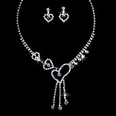 Love Alloy Wedding/Party Jewelry Set With Rhinestone