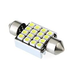 36mm 16 1210 SMD LED Canbus White Car Interior Dome Festoon Light Lamp Bulb