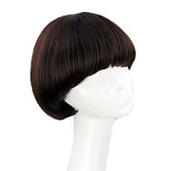 billiga Peruker och hårförlängning-Syntetiska peruker Bob-frisyr / Med lugg Syntetiskt hår Peruk Dam Halloween Paryk / Karneval peruk Dagligen