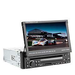 billiga DVD-spelare till bilen-7 tum 1 Din Windows CE In-Dash DVD-spelare Inbyggd Bluetooth / iPod / RDS för Universell Stöd / Upp till 16 GB / SD-kort / Subwoofer-utgång / SD / USB-stöd / Pekskärm / IR-sändare
