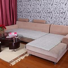 billige Hjemmetekstiler-elaine bomull hamp grå bordure sofa pute 333823