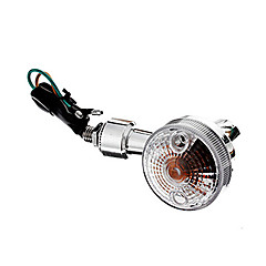 olcso -DIY Vízálló irányjelzők sárga fény Motorkerékpárok Silver (AC12-16V 8W 2 db-os)