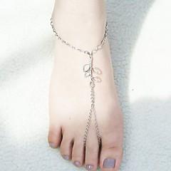 shixin® mote later form sølv legering barbeint sandal (1 stk)