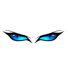 Teste padrão azul dos olhos Car Adesivos Decorativos