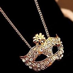 נשים שרשראות תליון סגסוגת אבן נוצצת חיקוי יהלום אבני מזלות זהב כסף תכשיטים Party יומי קזו'אל 1pc