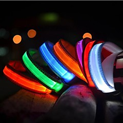 cheap Dog Collars, Harnesses & Leashes-Cat Pets Dog Collar Dog Training Collars LED Lights Electric Glow Solid Colored Nylon Blue Pink Rainbow