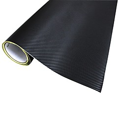Merdia Decoratie 3D PVC Carbon Fiber Film Wrap Sticker voor auto-Black (127 x 50cm)