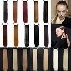 Χαμηλού Κόστους Αλογοουρές-Αλογορουρές Κομμάτι μαλλιών Ίσιο Κλασσικά Συνθετικά μαλλιά 24 εκ Μακρύ Hair Extension Καθημερινά