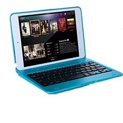 Назначение Чехлы панели со стендом с клавиатурой Флип Чехол Кейс для Сплошной цвет Твердый PC для iPad Mini 3/2/1