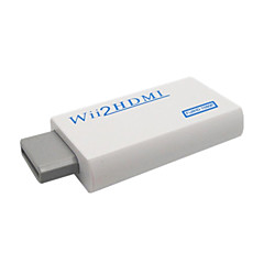 cheap Wii Accessories-Portable Wii to HDMI 720P / 1080p Converter with HDMI Male to Male Cable - White