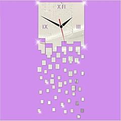 billige Veggklokker-3d DIY moderne stil nye akryl uregelmessig squaremirror veggur