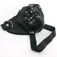 Maske Inspiriert von Tokyo Ghoul Cosplay Anime Cosplay Accessoires Maske Schwarz PU Leder Mann