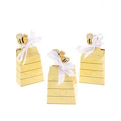 kulta mehiläiset design häät favor box-joukko 12 klassista naisellinen tyyli