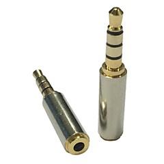 hesapli -2.5mm dişi stereo ses kulaklık mikrofon adaptör çevirici altın 3.5mm erkek