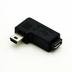 halpa -vasen kulma 90 astetta mini usb uros Micro USB naaras laajennussovitinta Conventer johto kaapeliliittimen ilmainen toimitus