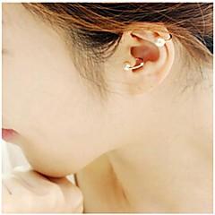Ear Cuffs Perłowy Stop Silver Golden Biżuteria Na Ślub Impreza Codzienny Casual