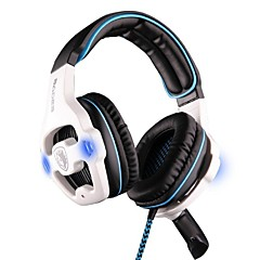 SADES SA-903 Over Ear Headband Wired Headphones Plastic Gaming Earphone Noise-isolating with Microphone with Volume Control Headset