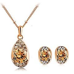 baratos Conjuntos de Bijuteria-Mulheres Conjunto de jóias Brincos / Colares - Festa / Casual Dourado / Branco Conjunto de Jóias Para