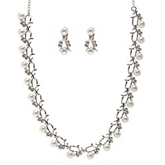 Jewelry Set Women's Anniversary / Wedding Jewelry Sets Alloy Imitation Pearl / Rhinestone Necklaces / Earrings Silver